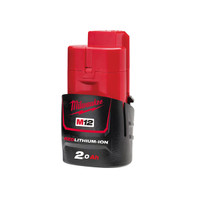 Milwaukee M12 B2 REDLITHIUM-ION Battery 12V 2.0Ah Li-Ion
