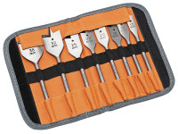 Bahco 9529 S8 8 Piece Flat Bit Set In Roll Case | Toolden
