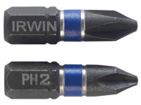 IRWIN Impact Screwdriver Bits Phillips PH2 25mm Pack of 2