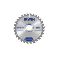 IRWIN Construction Circular Saw Blade 165 x 30mm x 30T ATB