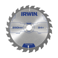 IRWIN General Purpose Table & Mitre Saw Blade 250 x 30mm x 24T ATB
