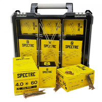 Spectre Site Organiser 900 Piece wood Screw Case