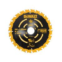 DeWalt DEWDT10304QZ Extreme Framing Circular Saw Blade 190 x 30mm x 24T (DEWDT10304QZ)| Toolden