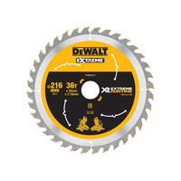 DeWalt DEWDT99569QZ FlexVolt XR Circular Saw Blade 216 x 30mm x 36T (DEWDT99569QZ)| Toolden