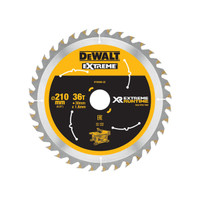 DeWalt DEWDT99566QZ FlexVolt XR Table Saw Blade 210 x 30mm x 36T (DEWDT99566QZ)| Toolden