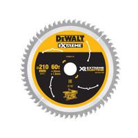 DeWalt DEWDT99567QZ FlexVolt XR Table Saw Blade 210 x 30mm x 60T (DEWDT99567QZ)| Toolden
