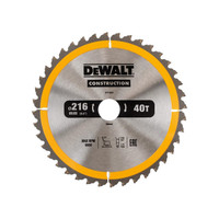 DeWalt DEWDT1953QZ Stationary Construction Circular Saw Blade 216 x 30mm x 40T ATB/Neg (DEWDT1953QZ)| Toolden