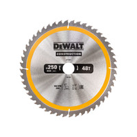 DeWalt DT1957 Stationary Construction Circular Saw Blade 250 x 30mm x 48T (DT1957QZ)| Toolden