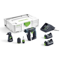 Festool CXS 3 in 1 Cordless 10.8v Drill Set with 2 x 2.6Ah Batteries