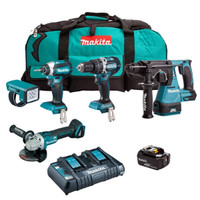 MAKITA 18v 5 Piece Brushless Kit with 3x 5ah Batteries DLX5042PT (MAKPDLX5042PT)