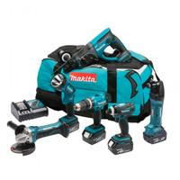 Makita DLX6021M 18v LXT 6-Piece Combi 4.0Ah Kit
