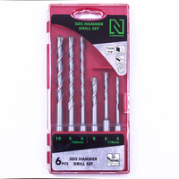 N-Durance SDS Quad Hammer Drill Bit Set of 6 Pieces