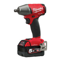 "Milwaukee ONEIWF12-502X M18 Fuel One Key 1/2"" FR Impact Wrench 18V 2 x 5.0Ah Batteries