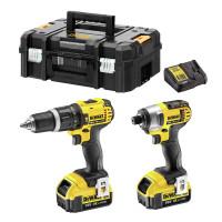 Dewalt DCZ285M2T 18V Cordless Combi Drill & Impact Driver Twin Pack 2 x 4.0Ah Batteries
