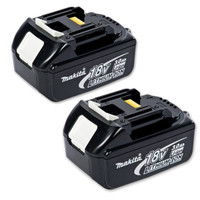 Makita Battery BL1830 18 Volt 3Ah Lithium-Ion - Twin Pack