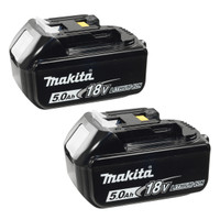 Makita BL1850 18 Volt 5Ah Lithium-Ion Battery - Twin Pack