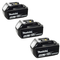 Makita Battery BL1850 18 Volt 5Ah Lithium-Ion - Triple Pack from Toolden.