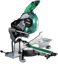 HiKoki C3610DRA/JAZ 18/36v MultiVolt Slide Compound Mitre Saw with 2 x 4.0Ah Batteries
