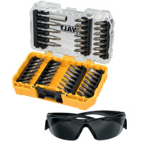 DeWalt DT70703 Screwdriving Set 47 Piece and Safety Glasses