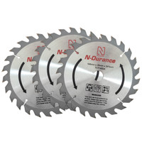 N-Durance TCT 165mm x 20mm x 24 T Circular Saw Blade Triple Pack