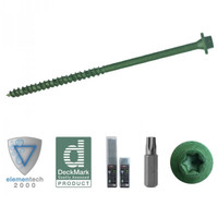 ForgeFast Elite 7.0 x 200mm Timber Fixing Screws - Green 50 Box