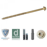 ForgeFast Elite 7.0 x 250mm Timber Fixing Screws - Tan 40 Box