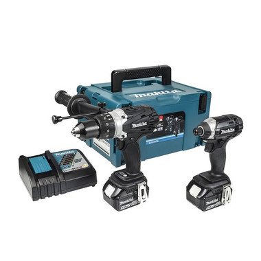 Makita DLX2145TBJ Black Twin Pack Cordless Drill & Impact Driver with 2 x 5.0Ah Batteries