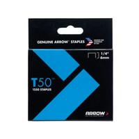 Arrow ARRT5014 T50 Staples 6mm (1/4in) Pack 5000