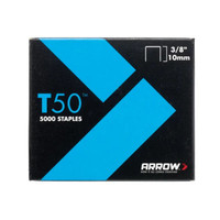 Arrow ARRT5038 T50 Staples 10mm 3/8in Pack 5000
