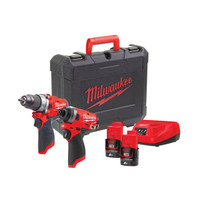 Milwaukee M12 FPP2A-202C FUEL™ Twin Pack 12V 2 x 2.0Ah Li-ion (MILM12FPP2P)| Toolden