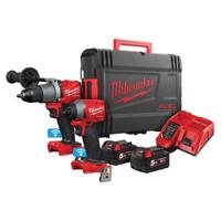 Milwaukee M18 ONEPP2A2-502X FUEL™ Next Gen ONE-KEY™ Twin Pack 18V 2 x 5.0Ah Li-ion (MILM18OPP2A2)| Toolden
