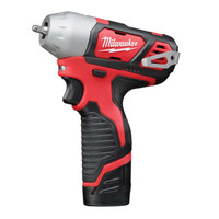 Milwaukee M12 BIW14-202C Sub Compact 1/4in Impact Wrench 12V 2 x 2.0Ah Li-Ion (MILM12BIW142)| Toolden