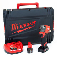 Milwaukee M12 FIWF12-622X FUEL™ Impact Wrench Kit 12V 1 x 2.0Ah & 1 x 6.0Ah Li-ion (MILM12FIW12X)|Toolden