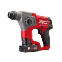 Milwaukee M12 CH-602X Fuel™ SDS Hammer 12V 2 x 6.0Ah Li-Ion (MILM12CH602X)| Toolden