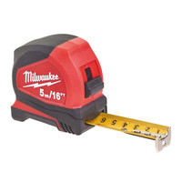 Milwaukee Pro Compact Tape Measure 5m/16ft (Width 25mm) (MHT932459595)| Toolden