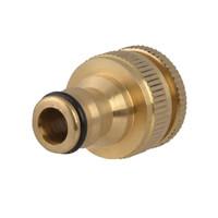 Faithfull Brass Dual Tap Connector 12.5 - 19mm (1/2 - 3/4in) (FAIHOSETC)| Toolden