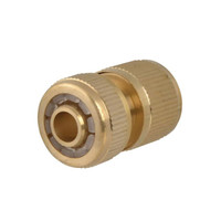 Faithfull Brass Female Water Stop Connector 12.5mm (1/2in) (FAIHOSEWC)  Toolden