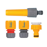HozeLock Hose Nozzle & Threaded Tap Starter Set (HOZ2352)| Toolden