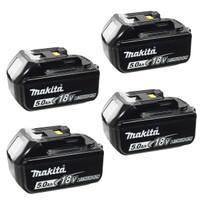 Makita BL1850 18v 5.0Ah LXT Li-Ion Battery Pack of 4
