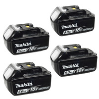 Makita BL1850 18v 5.0Ah LXT Li-Ion Battery Pack of 4