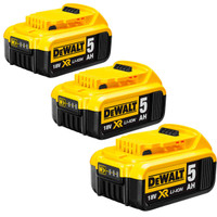 DeWalt DCB184 18v 5.0Ah XR Li-Ion Battery Pack of 3
