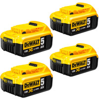 DeWalt DCB184 18v 5.0Ah XR Li-Ion Battery Pack of 4 (DCB184X4)