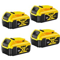 DeWalt DCB182 18v Battery XR Slide 4.0Ah Li-Ion Pack of 4 (DCB182X4)