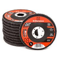 N-Durance 115 x 22 - 80 Grit Aluminium Oxide Flap Disc - Pack 10