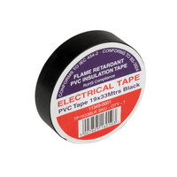 Black Electrical Tape TP1933BLK 19x33mtrs - Flame Retardant