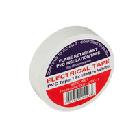 White Electrical Tape TP1933WHI 19x33mtrs - Flame Retardant