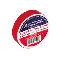 Red Electrical Tape TP1933RED 19x33mtrs - Flame Retardant