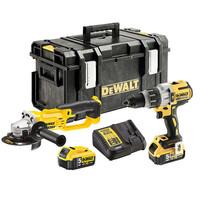 Dewalt DCK278P2T 18V Twinpack Combi Drill & Angle Grinder 2 x 5Ah Batterie