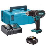 MAKITA DHP482RFJ1 Rechargeable Drill With 1 Battery 18V 3.0Ah Makpac Case