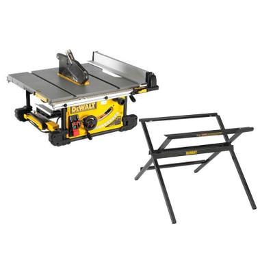 DeWalt DWE7492-GB 240v 250mm Portable Table Saw Scissor Leg Stand Set